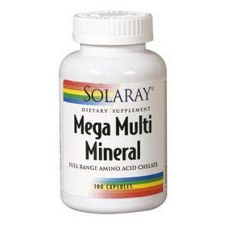 Mega Multi Mineral Solaray - 120 cápsulas