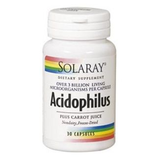 Acidophilus Plus Solaray - 30 cápsulas