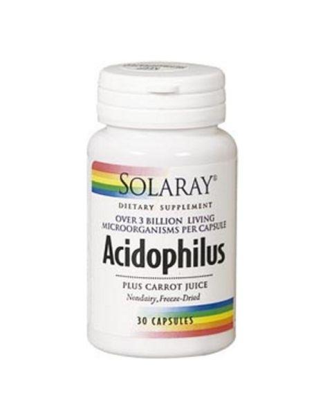 Acidophilus Plus Solaray - 30 cápsulas