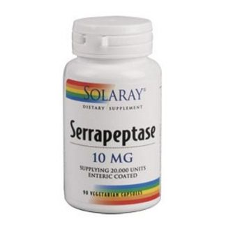 Serrapeptasa Solaray - 90 cápsulas
