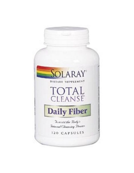 Total Cleanse Daily Fiber (Fibra)  Solaray - 120 cápsulas