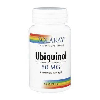 Ubiquinol CoQ10 50 mg. Solaray - 30 perlas