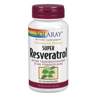 Super Resveratrol 250 mg. Solaray - 30 cápsulas