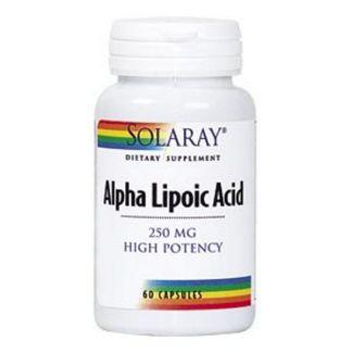 Ácido Alfa Lipoico 250 mg. Solaray - 60 cápsulas