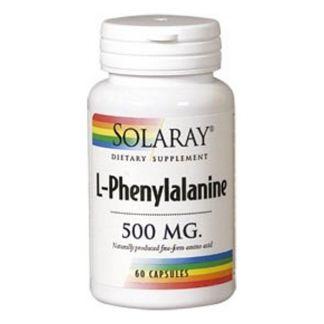 L-Fenilalanina 500 mg. Solaray - 60 cápsulas