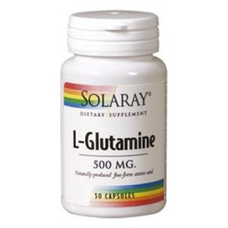 L-Glutamina 500 mg. Solaray - 50 cápsulas