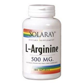 L-Arginina 500 mg. Solaray - 100 cápsulas