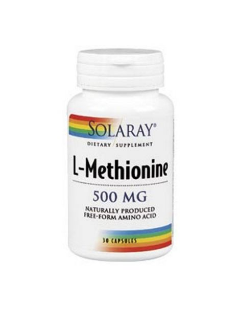 L-Metionina 500 mg. Solaray - 30 cápsulas