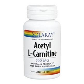 Acetil L-Carnitina 500 mg. Solaray - 30 cápsulas