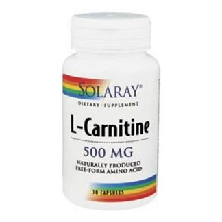 L-Carnitina 500 mg. Solaray - 30 cápsulas