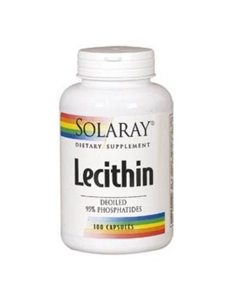 Lecitina Oil Free Solaray - 100 cápsulas