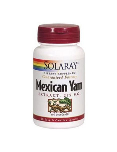 Mexican Yam 275 mg. Solaray - 60 cápsulas