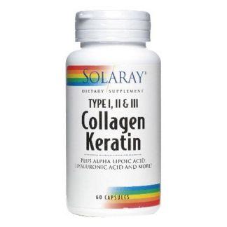 Collagen Keratin Solaray - 60 cápsulas