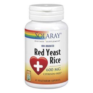 Red Yeast Rice (Levadura Roja de Arroz) Solaray - 45 cápsulas