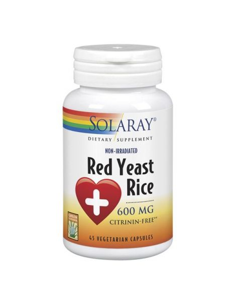 Red Yeast Rice (Levadura Roja de Arroz) Solaray - 45 cápsulas