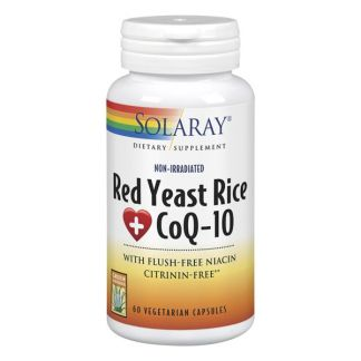 Red Yeast Rice Plus Q10 (Levadura Roja de Arroz) Solaray - 60 cápsulas
