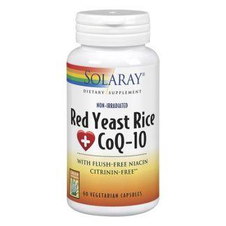Red Yeast Rice Plus Q10 (Levadura Roja de Arroz) Solaray - 60 cápsulas