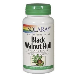 Black Walnut Hull (Nogal Negro) Solaray - 100 cápsulas