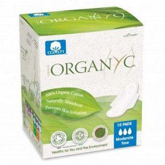 Compresa de Día con Alas Regular Organyc - 10 unidades