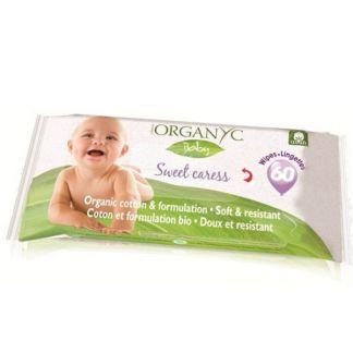 Toallitas Bebé Organyc - 60 unidades