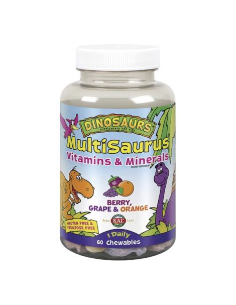 MultiSaurus Kal - 60 comprimidos masticables