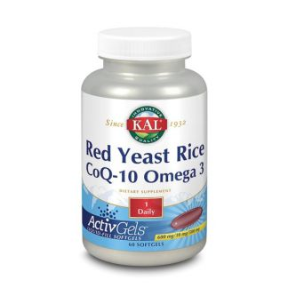Red Yeast Rice, CoQ10 y Omega 3 Kal - 60 perlas