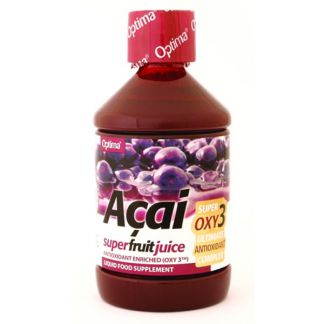 Zumo de Açai con OXY3 Optima - 500 ml.