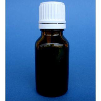Frasco goteador de vidrio topacio - 15 ml.