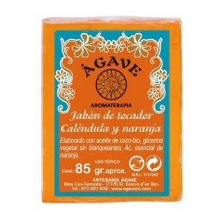 Jabón de Tocador de Naranja y Caléndula Ágave - 85 gramos