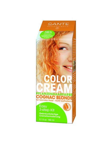 Crema Colorante Capilar Rubio Coñac Sante - 150 ml.