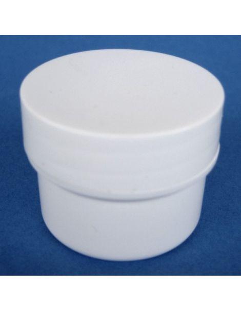 Tarro de Plástico Blanco Cilíndrico - 20 ml.