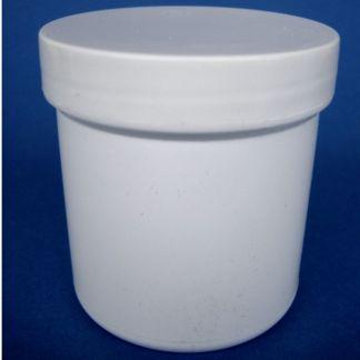 Tarro de Plástico Blanco Cilíndrico - 100 ml.