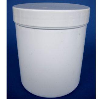 Tarro de Plástico Blanco Cilíndrico - 200 ml.