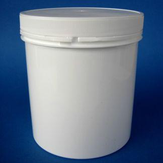 Tarro de Plástico Blanco Cilíndrico - 1000 ml.