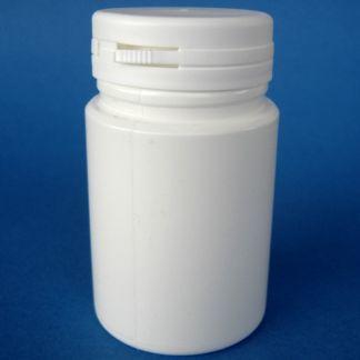Tarro de Plástico Blanco Pildorero - 100 ml.