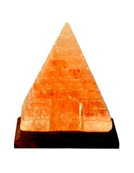 Lámpara de Sal Pirámide con Líneas