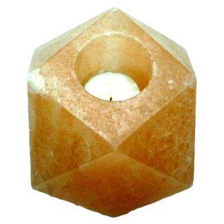 Portavelas de sal Pulido Forma Diamante