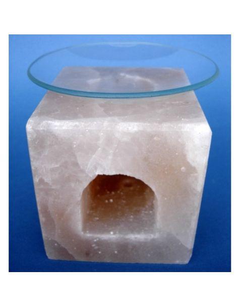 Portavelas de Sal Difusor de Esencias Cubo