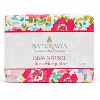 Jabón de Rosa Mosqueta Naturavia - 100 gramos