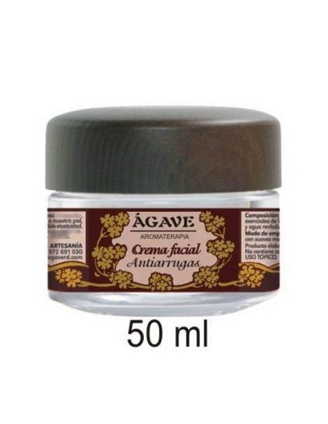Crema Facial Antiarrugas Ágave - 50 ml.
