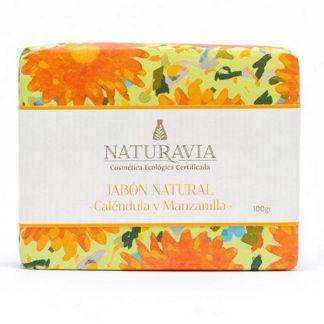 Jabón de Caléndula y Manzanilla Naturavia - 100 gramos