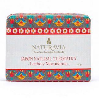 Jabón Cleopatra de Leche y Macadamia Naturavia - 100 gramos