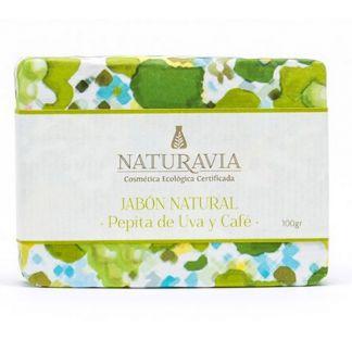 Jabón de Pepita de Uva y Café Naturavia - 100 gramos