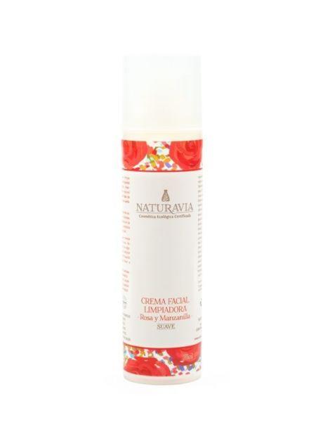 Limpiadora Suave de Rosa y Manzanilla Naturavia - 75 ml.