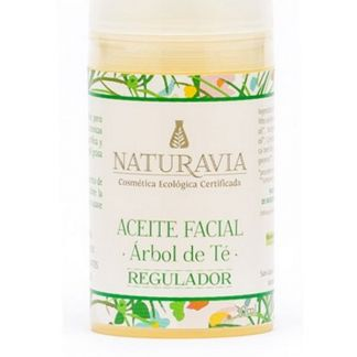 Aceite Facial de Árbol de Té Regulador Naturavia - 30 ml.