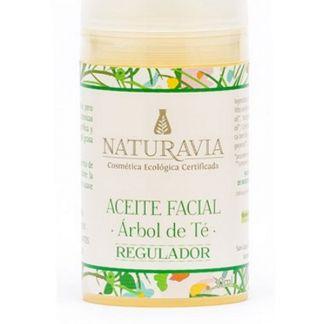 Aceite Facial de Árbol de Té Regulador Naturavia - 30 ml.