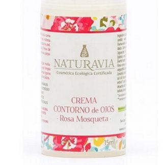 Crema Contorno de Ojos de Rosa Mosqueta Naturavia - 15 ml.