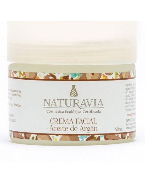 Crema Facial de Aceite de Argán Naturavia - 50 ml.