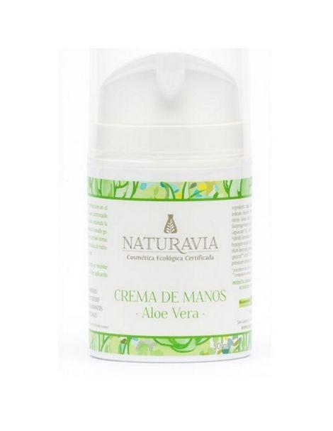 Crema de Manos de Aloe Vera Naturavia - 50 ml.