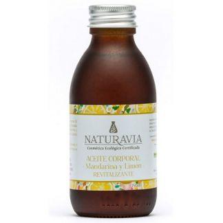 Aceite Corporal de Mandarina y Limón Revitalizante Naturavia - 150 ml.